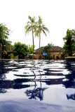 Pool. One day at banyuwangi hotel east java indonesia, pool side view Royalty Free Stock Photos