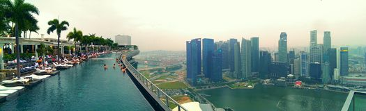 Pool op Marina Bay Sands-hotel  stock afbeelding