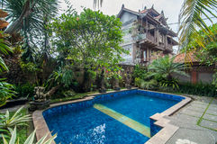 Pool outdoor Traditional Villa Royalty Free Stock Photography