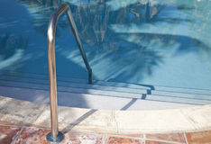Pool. With palm tree shadows Stock Photos