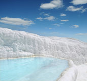 Pool of Pamukkale in Turkey Stock Images