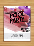 Pool Party celebration flyer or template. Royalty Free Stock Image