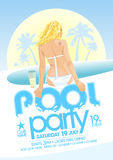 Pool party design. Pool party design template. Eps10 Royalty Free Stock Image