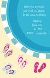 Pool-Party-Einladung Stockfotografie