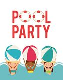 Pool party enjoy icon Royalty Free Stock Image