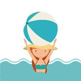 Pool party enjoy icon Royalty Free Stock Photos