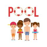 Pool party enjoy icon Royalty Free Stock Photo