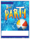Pool Party Flyer Invitation Illustration Stock Photo