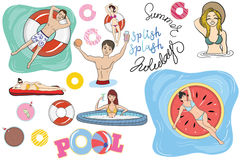 Pool Party Stock Images