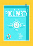 Pool party poster. Summer party invitation, flyer concept Royalty Free Stock Image