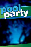 Pool Party Poster Royalty Free Stock Photo