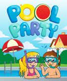 Pool party theme image 3 Royalty Free Stock Photography