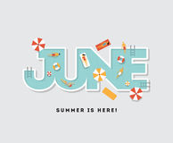 Pool party typography illustration Royalty Free Stock Image