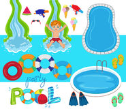 Pool Party Vector Design Illustration. Royalty Free Stock Images