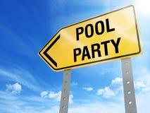 Pool-Party-Zeichen Lizenzfreie Stockfotografie