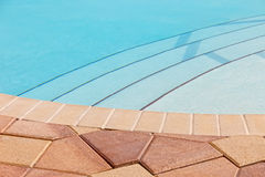 Pool with Pavers Royalty Free Stock Photos