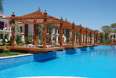 Pool and  pergola Royalty Free Stock Image