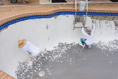 Pool plaster resurfacing Diamond Brite Detail Stock Photo