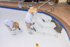 Pool plaster resurfacing Diamond Brite Royalty Free Stock Photos