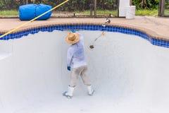Pool plaster resurfacing Diamond Brite Stock Images