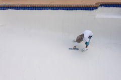 Pool plaster resurfacing Diamond Brite Stock Photo