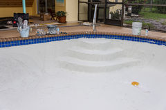 Pool plaster resurfacing Diamond Brite Stock Images