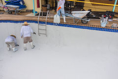 Pool plaster resurfacing Diamond Brite Royalty Free Stock Photo