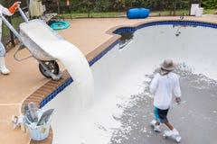 Pool plasterl resurfacing Diamond Brite Royalty Free Stock Photography