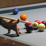 Pool player 01 Stock Images