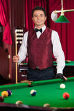 Pool player. Royalty Free Stock Photography