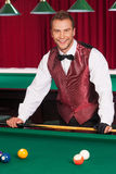 Pool player. Stock Image