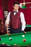 Pool player. Stock Photo