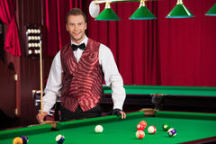 Pool player. Stock Images