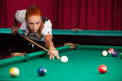 Pool player. Stock Photo