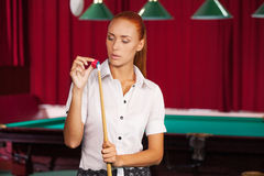 Pool player. Stock Photography