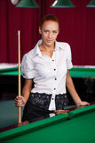 Pool player. Royalty Free Stock Photo