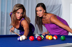 Pool Players Stock Photo