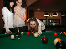 Pool players Stock Images