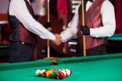 Pool players. Stock Image