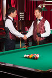 Pool players. Royalty Free Stock Image