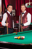 Pool players. Stock Images