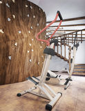 Pool in a private house with gym and climbing wall in the loft s Royalty Free Stock Photos