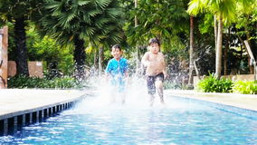 Pool racing stock video