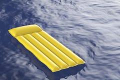 Pool raft floating on water Stock Image