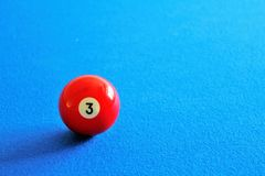 Pool red ball Stock Image