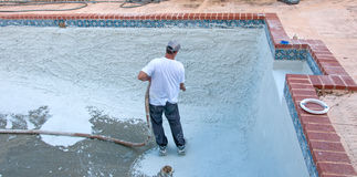 Pool Refinishing Royalty Free Stock Image