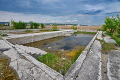 Pool remains from the Someseni Baths near Cluj Stock Image