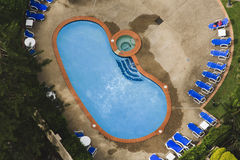 Pool Residence Aerial View Royalty Free Stock Photos