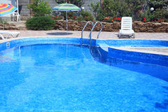Pool in residential the yard Royalty Free Stock Photo