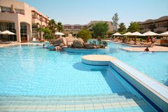 Pool on resort Stock Photos